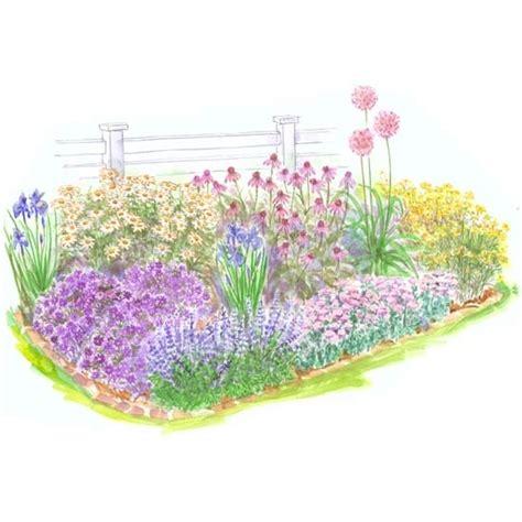 beginner perennial garden for sun outside
