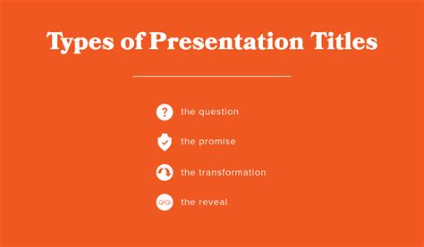 Types of Presentation Titles to Attract a Larger Audience