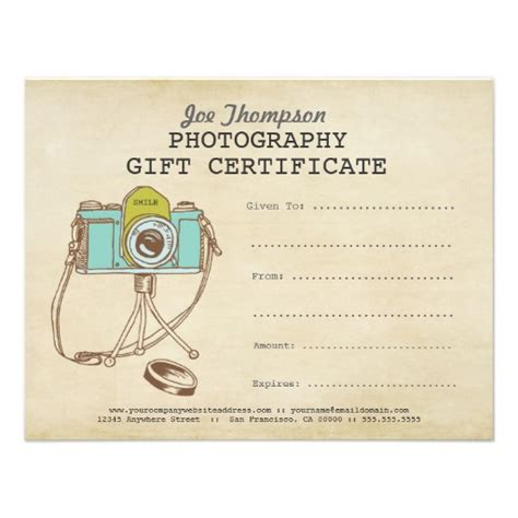free printable photography gift certificate template photographer photography gift certificate template gift