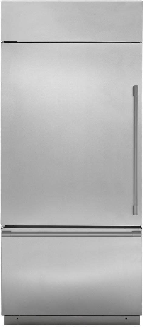 zicsnnlh monogram  built  counter depth bottom freezer refrigerator left hinge
