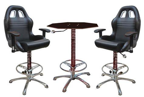 3 Piece Black Automotive Bar Furniture