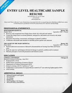 entry level healthcare resume example http With healthcare professional resume