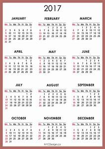 2017 Calendar Printable | weekly calendar template