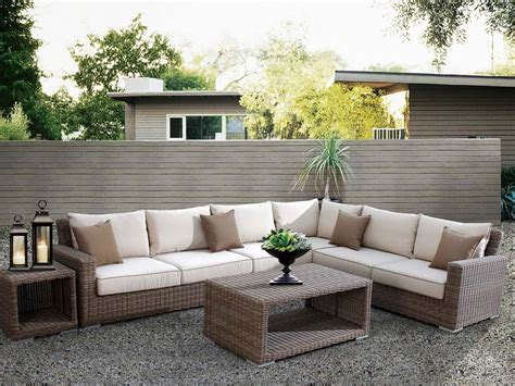 choosing your outdoor sectional sofa front yard