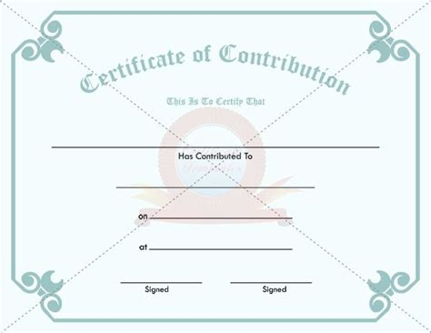 Contribution Templates by 30 Best Contribution Certificate Templates Images On