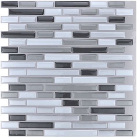 Peel and Stick Tiles Kitchen Backsplash Tiles 12''x12'' 3D