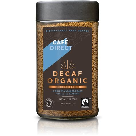 Good decaf coffee should be as rich and flavorful as regular coffee. Cafedirect Fairtrade Decaffeinated Organic Instant Coffee 100g