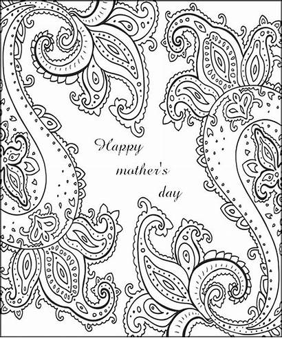 Coloring Mothers Pages Mother Happy Adult Adults