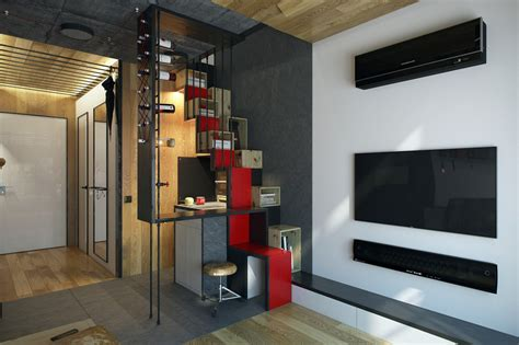 Small Apartment Interior Design Working With Just 40 Square Meter 431 Square by Micro Home Design Tiny Apartment Of 18 Square Meters