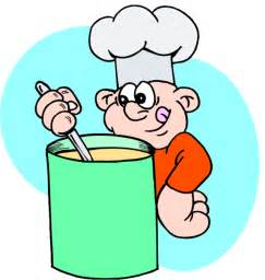 Cartoon Cooks Soup and Photo