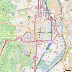 Au Bureau Villefranche Sur Saone by Plan Villefranche Sur Sa 244 Ne Carte Ville Villefranche Sur Sa 244 Ne