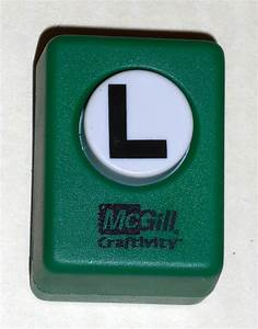 sold out mcgill craftivity paper punch letter l upper case With letter paper punch