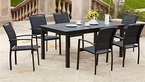 Table De Jardin Extensible Aluminium : table de jardin extensible en aluminium et 8 fauteuils ~ Melissatoandfro.com Idées de Décoration
