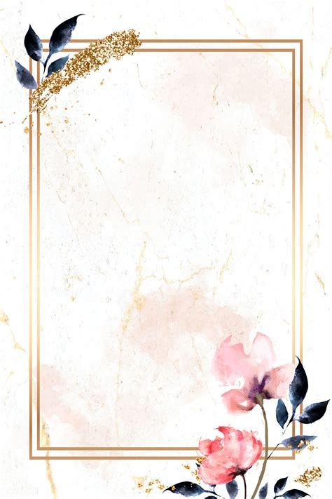 Watercolor and gold frame Royalty free stock