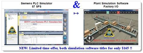 this siemens plc simulator and plant simulation software bundle make for a great siemens