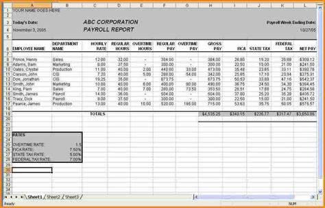 payroll excel template simple salary slip