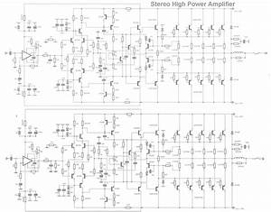 High Power Audio Amplifier Schematics