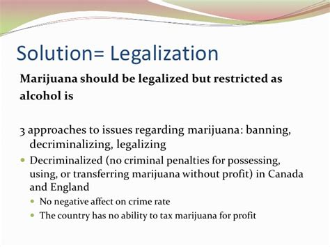 Thesis For Legalization by Thesis Legalization Of Marijuana