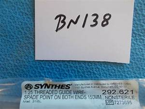 292 621 Synthes 1 25mm Threaded Guide