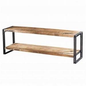 Möbel Im Industriedesign : wandkonsole tv lowboard aus massivholz im industriedesign mit 3 schubladen kaufen bei ~ Orissabook.com Haus und Dekorationen