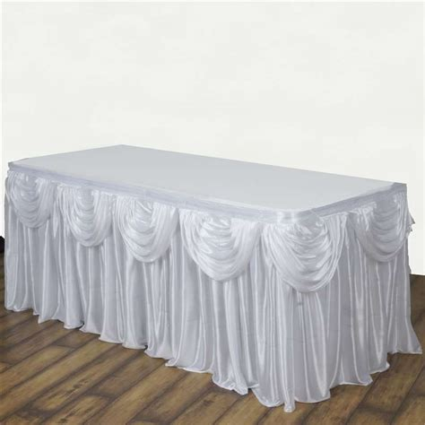 drape table 17 x 29 quot satin classic drape table skirt wedding