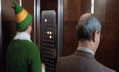 elevator lights double as well lit christmas trees 14