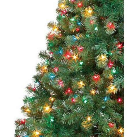 6 5 ft pre lit artificial tree multi color
