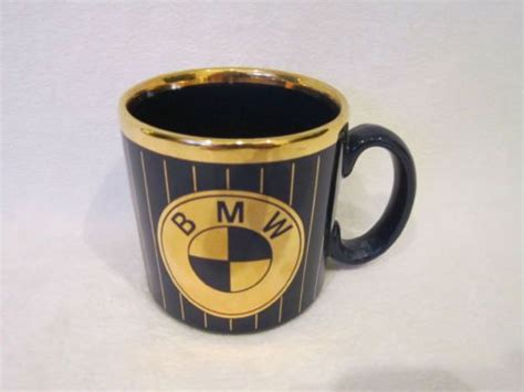 Vintage Bmw Blue And Gold Coffee Mug 4