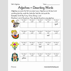 Adjective Worksheets  Have Fun Teaching