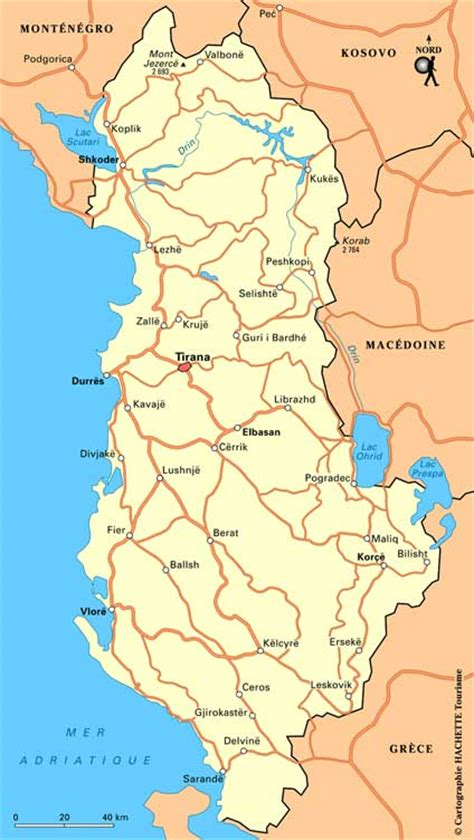 Carte Du Monde Avec L Albanie by Albanie G 233 Ographie