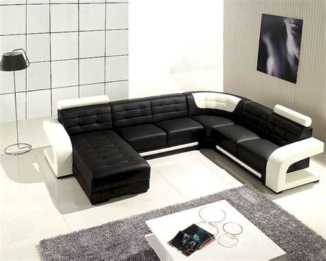 black and white leather sofa set black and white leather modern sectional sofa set 44lt139