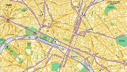 Downtown Map of Paris • Mapsof.net