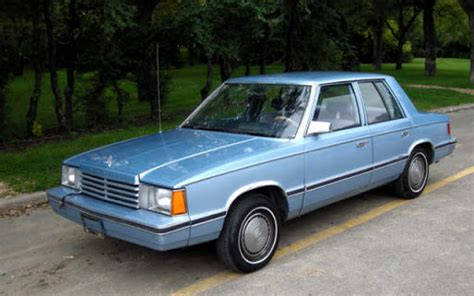 dodge aries information   momentcar