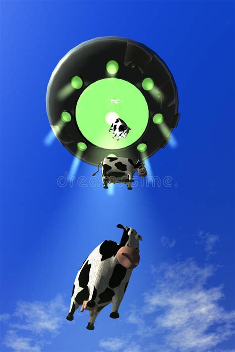 cow abduction l comical cow abduction 3 stock illustration image of science 16689359