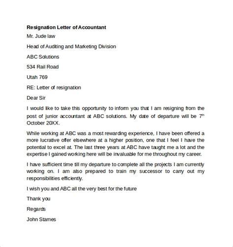 sample resignation letter    documents