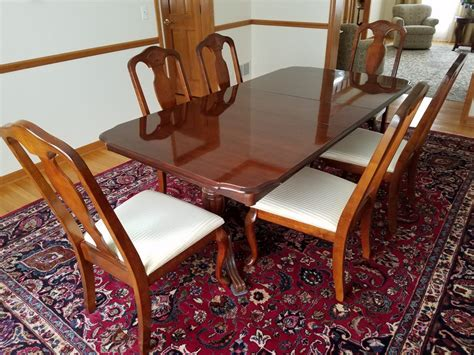 nice solid wood dining set cherry finish table