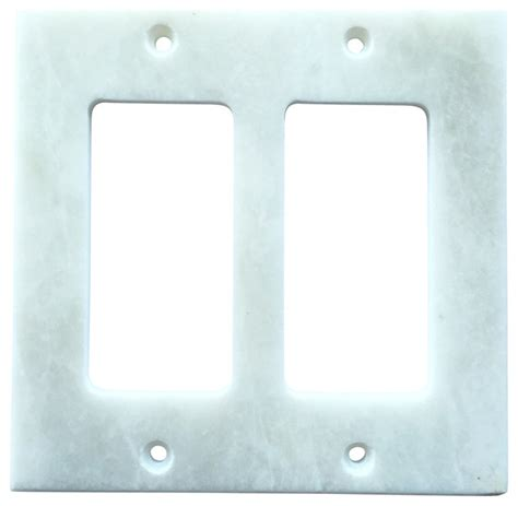 marble switch plates white marble meram blanc switch plate cover double rocker 4 5 quot x5 5 quot traditional switch