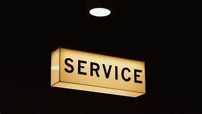 Service Word Lighting Signage Sign Shape Font