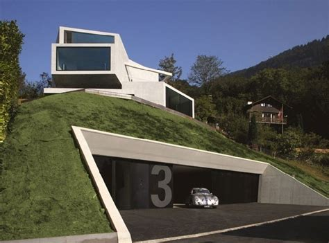 stunning houses with underground garages unique concrete house with unique views by ungertreina