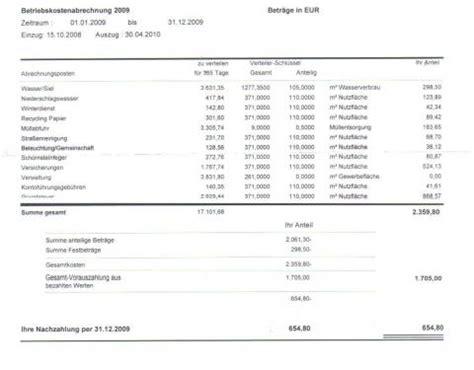 Wohnen Betriebskostenabrechnung by Betriebskostenabrechnung Zu Hoch Mietrecht