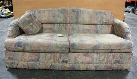 Used Sleeper Sofas rv furniture used rv cloth pull out sleeper sofa motorhome