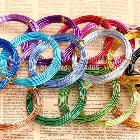 vire colored contacts free shipping 5m roll 2mm diameter colored aluminum wire