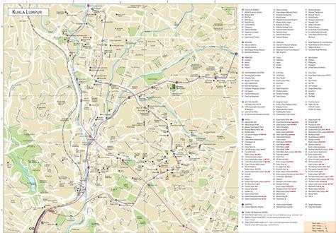 kuala lumpur tourist attractions map