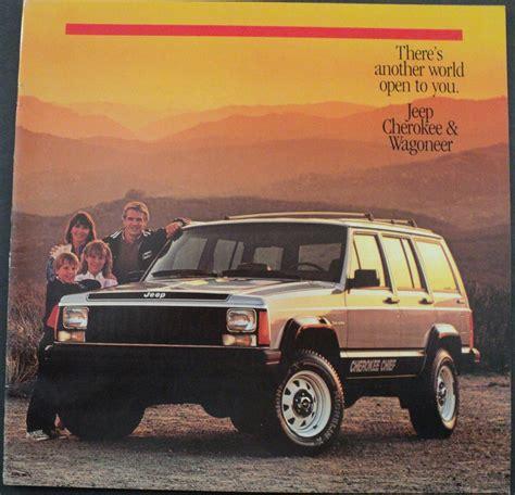 original jeep cherokee 1986 jeep cherokee pioneer chief laredo wagoneer original