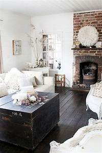 rustic chic decor 30 Pretty Rustic Living Room Ideas - Noted List