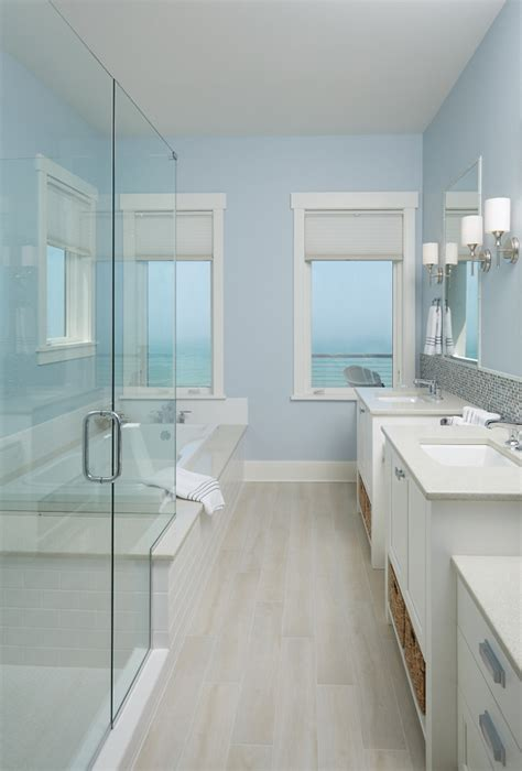 light blue bathroom ideas storybook shingle house with coastal interiors