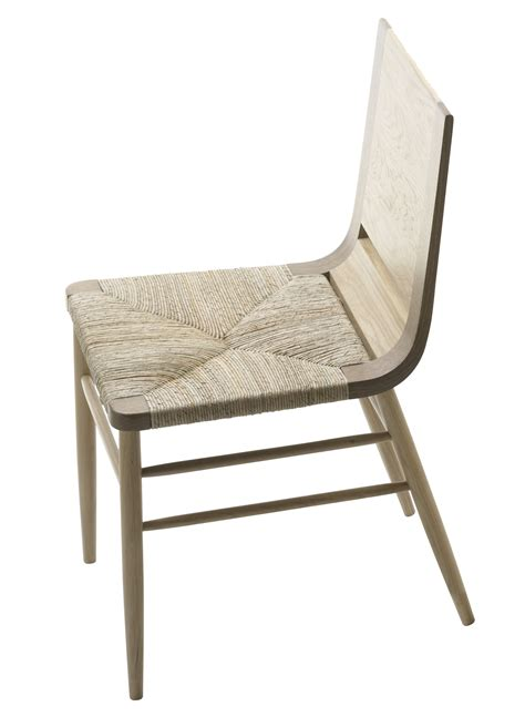chaise bois paille kimua chair wicker seat oak by alki