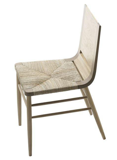 chaise bois paille kimua chair wicker seat oak by alki