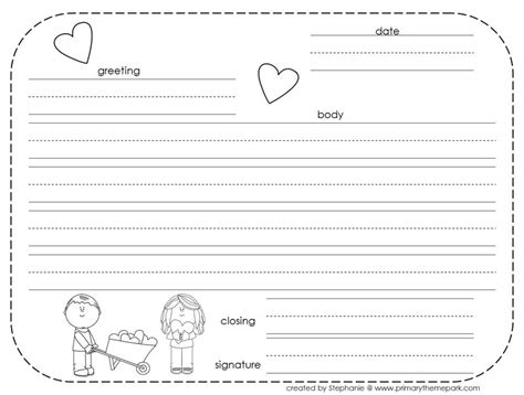 write  friendly letter  printables friendly