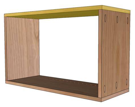 building frameless cabinets how to build frameless wall cabinets 285   EuroWallCab Step2 3LastSide